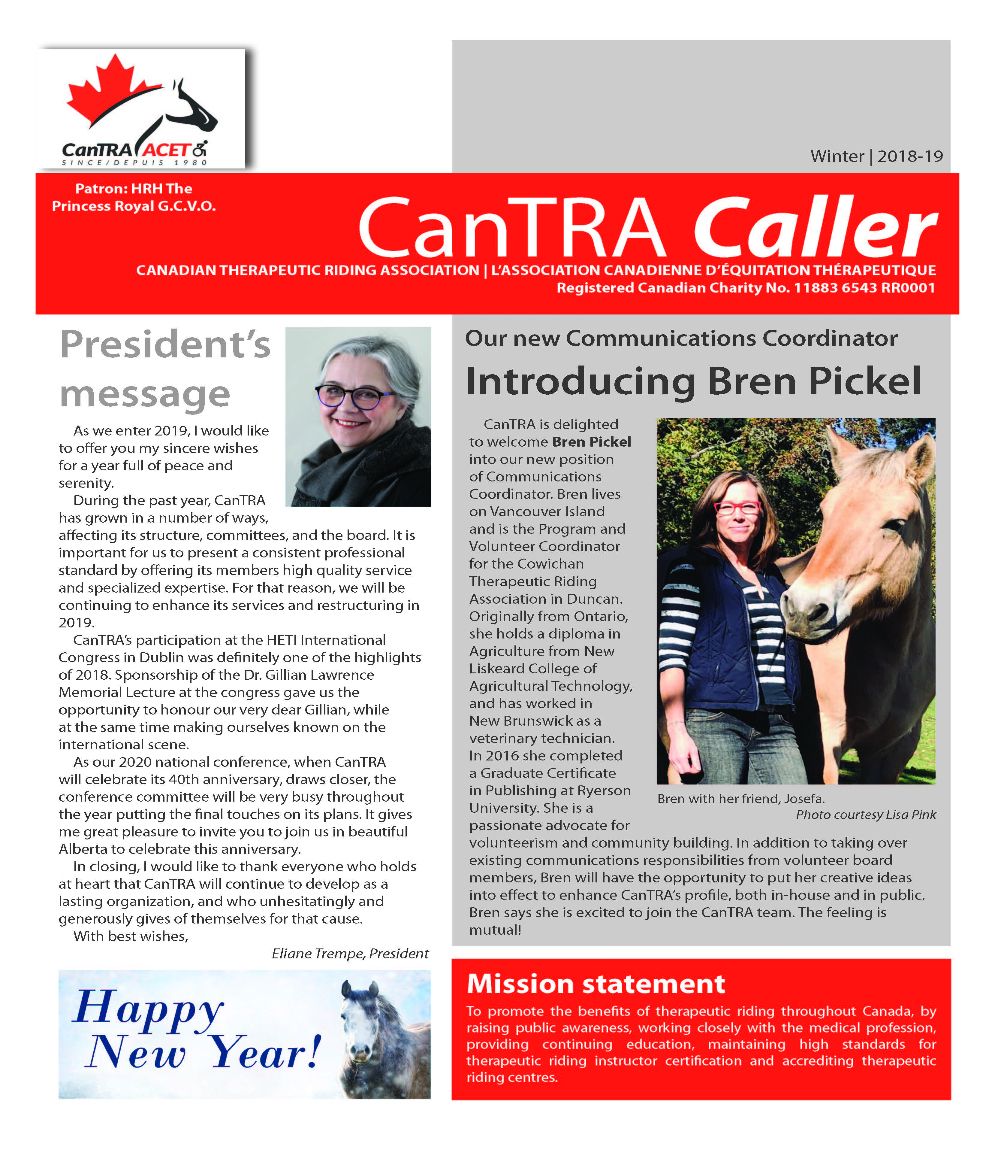 CanTRA Caller Winter 2019